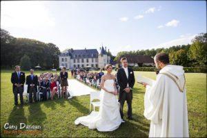 célébration du mariage chateau de changy