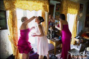 maquillage chambre mariée