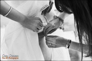 préparation mariage robe de mariée